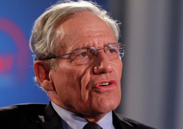 Former Washington Post reporter Bob Woodward speaking during an event to commemorate the 40th anniversary of Watergate in Washington.