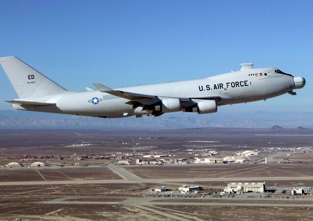 The Airborne Laser Test Bed takes off from Edwards Air Force Base, California, in 2012.