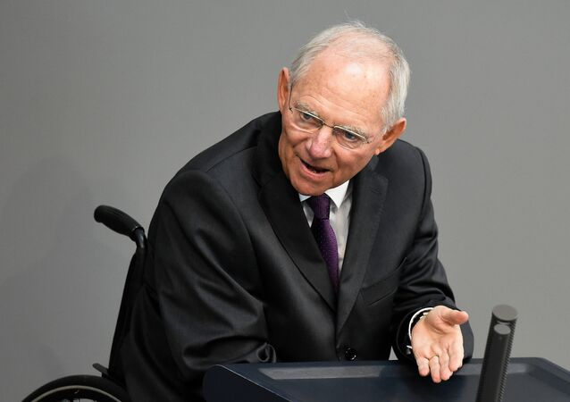 Germany's Finance Minister Wolfgang Schauble