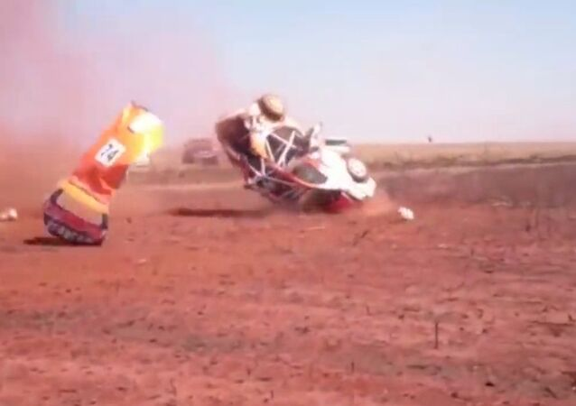 South African Rally Car Flips in Dramatic Crash