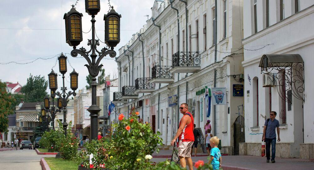 The city of Feodosia in Crimea
