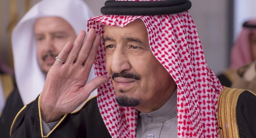 In this Jan. 6, 2015, file image released by the Saudi Press Agency, Saudi King Salman gestures during a session at the Shura Council