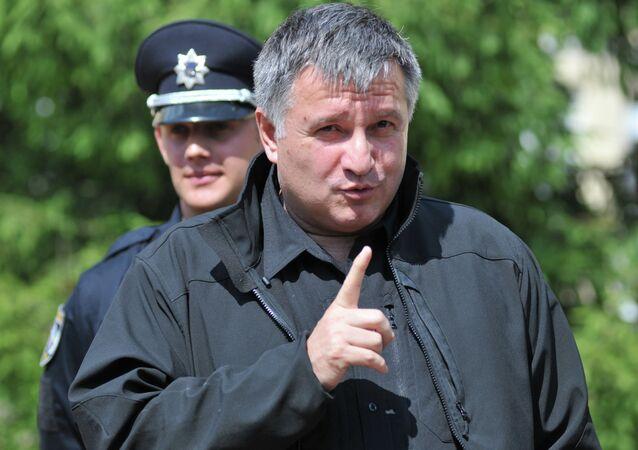 Ukrainian Minister of Interior Avakov visits patrol police training center in Lvov
