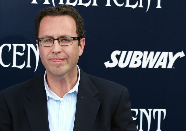 In this May 28, 2014 photo, former Subway restaurant spokesman Jared Fogle arrives at the world premiere of Maleficent at the El Capitan Theatre in Los Angeles.