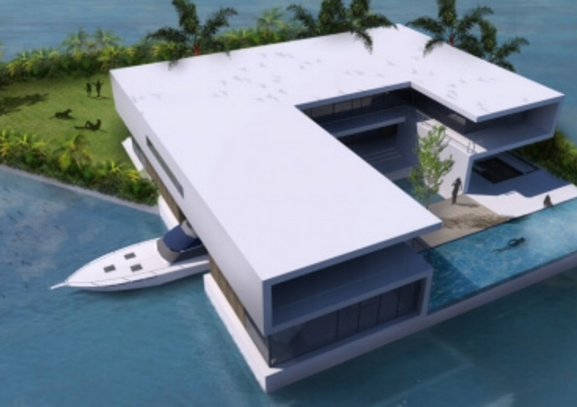 Portable islands? Super-Rich Can Now Getaway Wherever They Want
