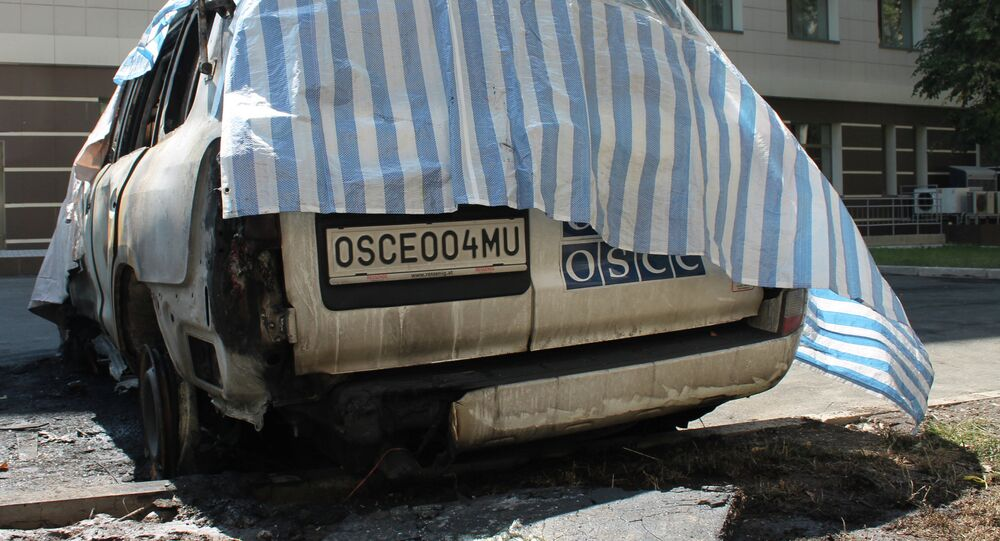Six OSCE mission cars burned in Donetsk