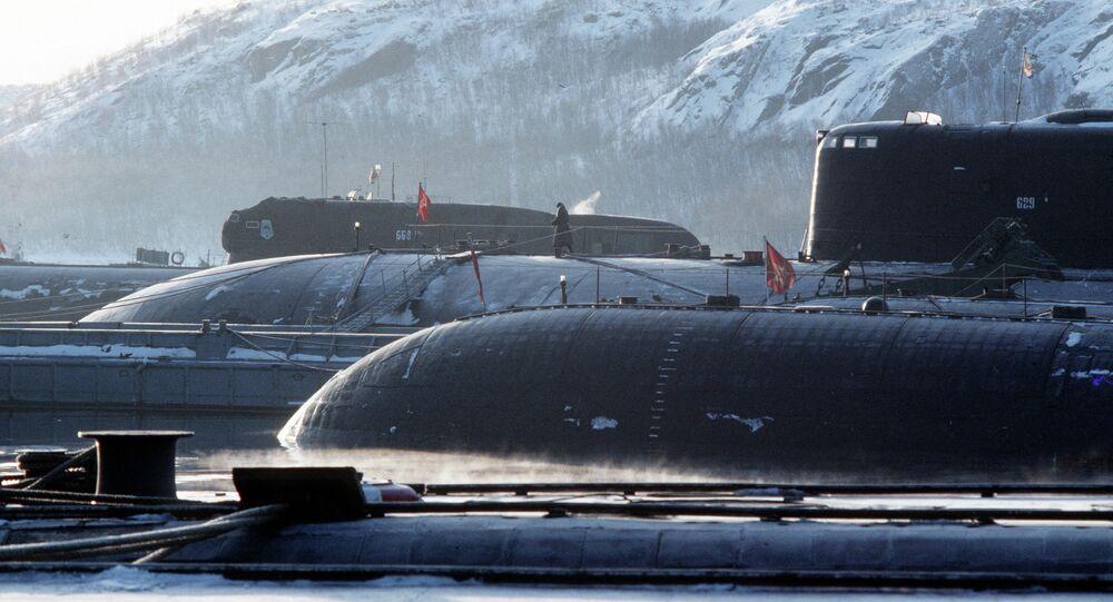 Northern Fleet. Nuclear submarines base