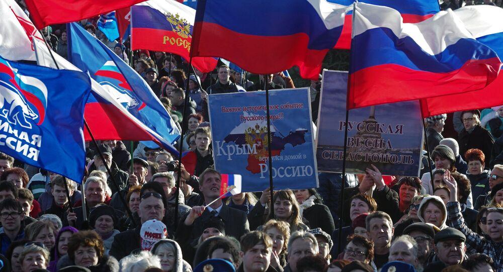 Celebration of 1st anniversary of Crimean Spring in Sevastopol