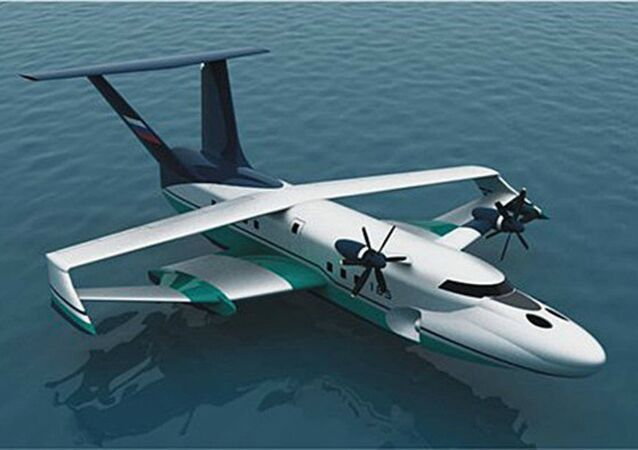 Project of a sea basic ekranoplan A-050-742d