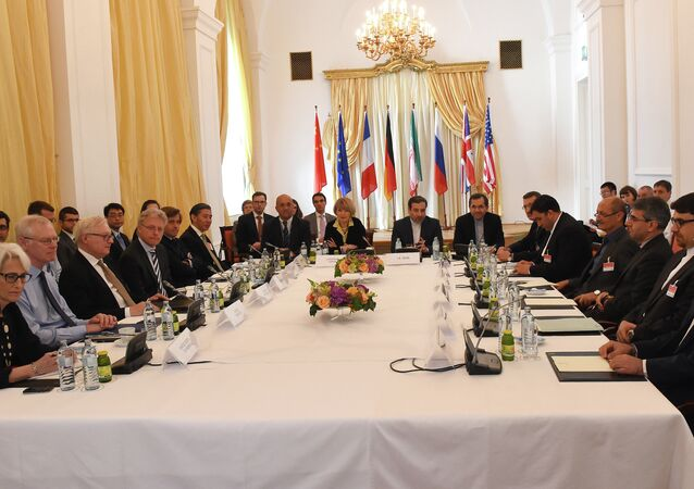 Representatives of EU, US, Britain, France, Russia, Germany, China and Iran meet for another round of the P5+1 powers and Iran talks in Vienna, Austria on June 12, 2015.