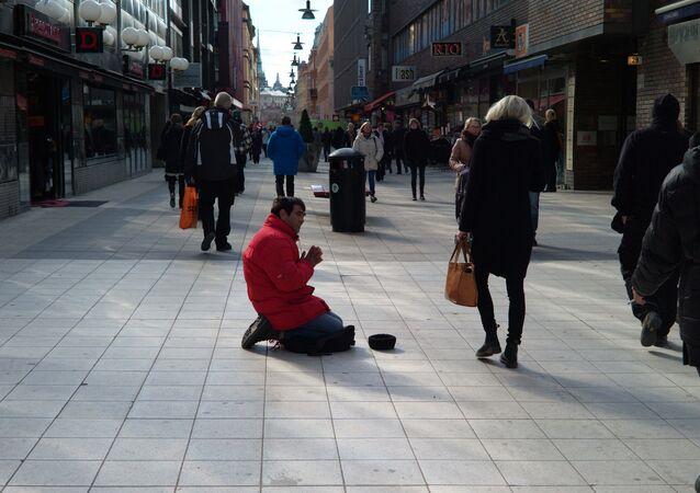 Sweden beggar