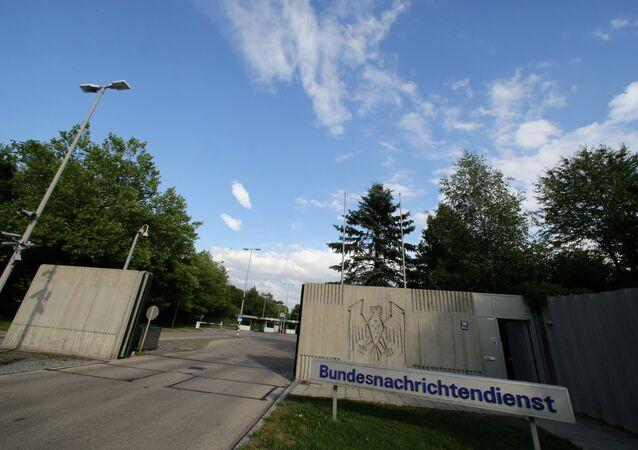 The entrance of the Bundesnachrichtendienst ,BND, in Pullach, Germany