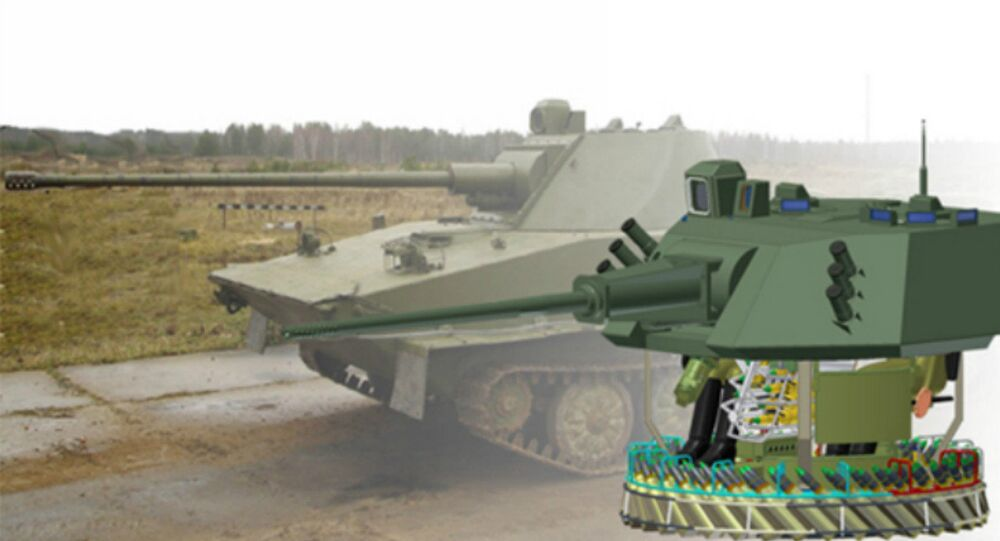The Central Research Institute Burevestnik-designed 57-mm A-220M gun, designed for use by armored vehicles.