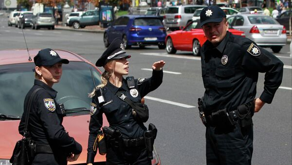 Ukrainian police officers. File photo - Sputnik International