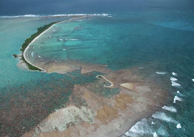 Palmyra Atoll aerial view