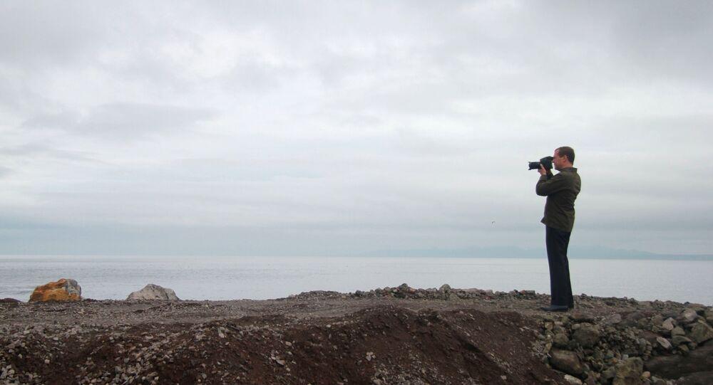 Prime Minister Medvedev visits Far Eastern Federal District. Kuril Islands