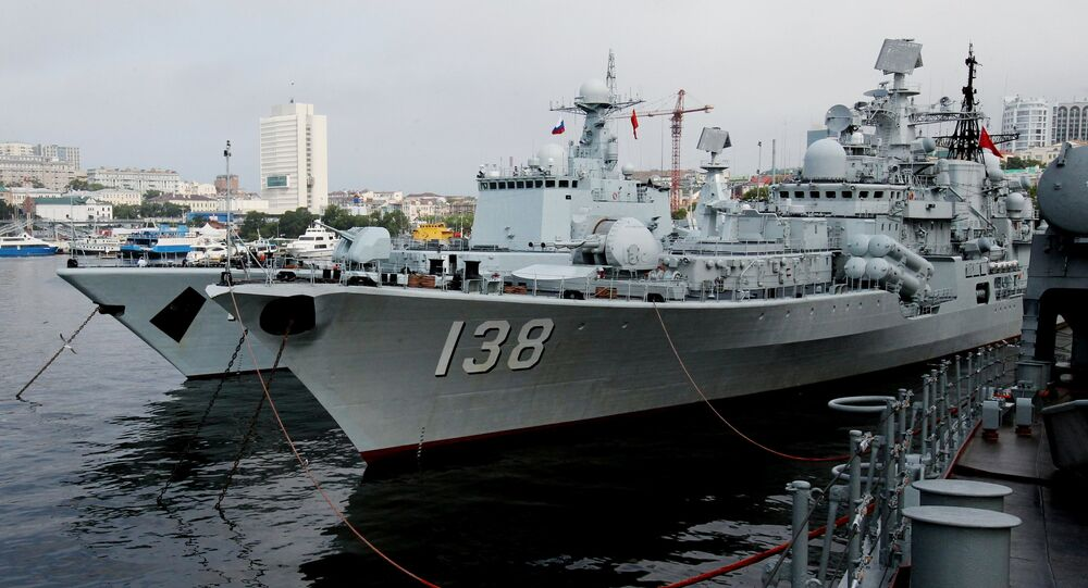 he destroyers Shenyang and Taizhou that have arrived in Vladivostok together with five other Chinese warships for the second stage of the Naval Cooperation 2015 exercis