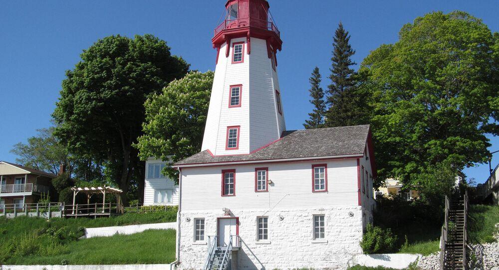 Kincardine Lighthouse in Kincardine, Ontario, near Lake Huron