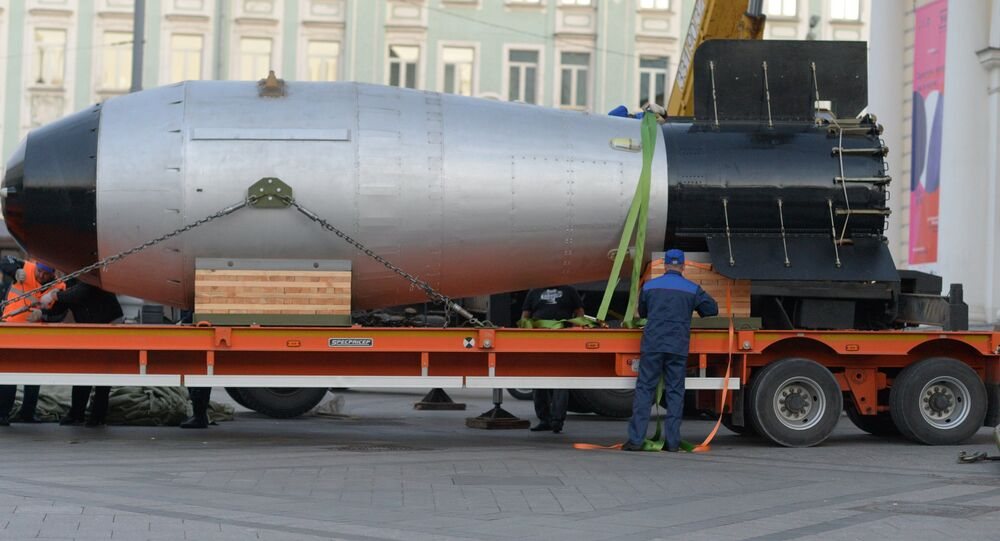 Tsar bomba arrives in Moscow