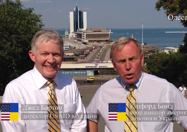 The US embassy in Ukraine released a video Sunday to wish Ukrainians a happy Independence Day