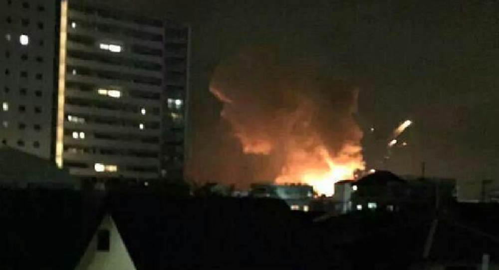 Series of explosions occured at an US military facility in the Japanese city of Sagamihara