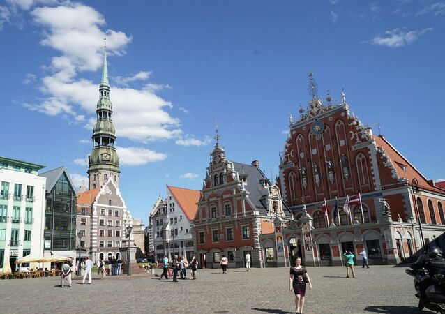 The Town Hall Square in Riga.