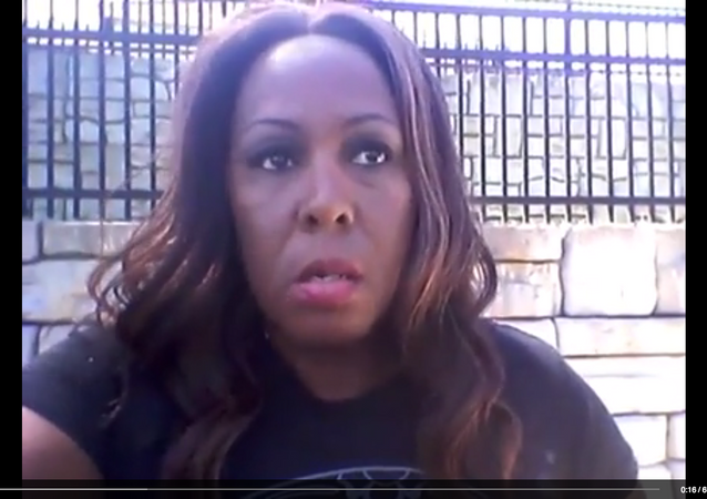 Screenshot of Peggy Hubbard's Facebook video in which she blasts Black Lives Matter for condoning black-on-black crime