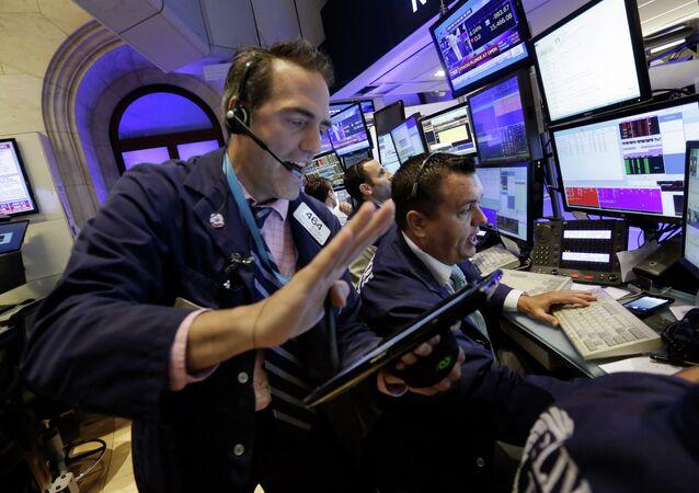 The New York Stock Exchange, Monday, Aug. 24, 2015.