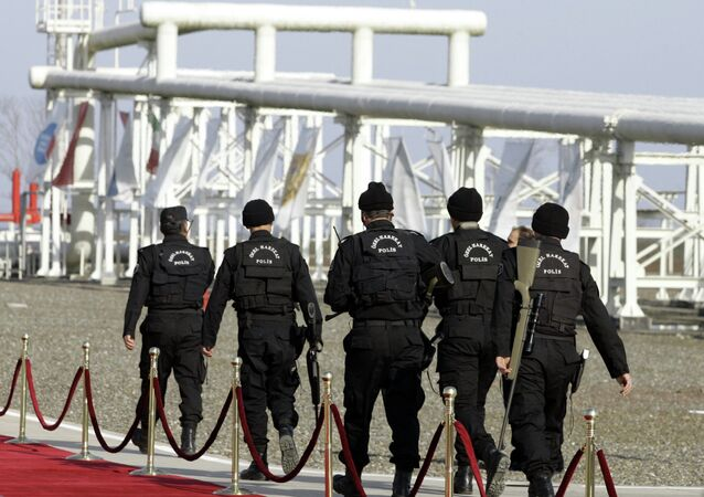 Turkish security special forces patrol at the pumping station in the village of Durusu, near the northern Turkish city of Samsun, Thursday, Nov. 17, 2005, hours before the inauguration ceremony of the Blue Stream pipeline. (File)
