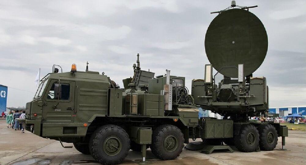 Mobile complex of radio-electronic warfare Krasuha