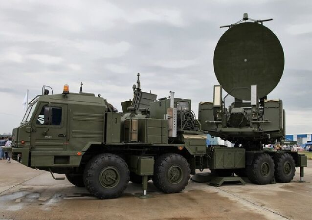 Mobile complex of radio-electronic warfare Krasuha