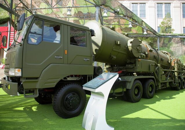 A Chinese DF-21A transporter errector vehicle