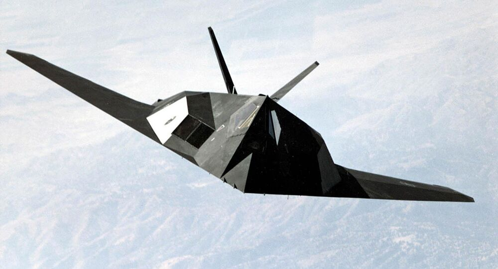 US Air Force shows an F-117 Nighthawk stealth fighter
