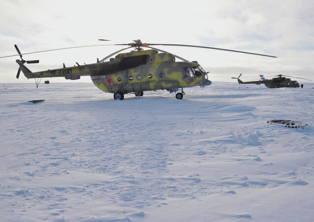 A Mil Mi-8 helicopter