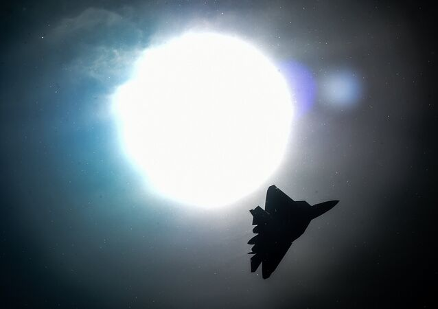 A Russian Sukhoi T-50 jet fighter performs during the MAKS-2015, the International Aviation and Space Show, in Zhukovsky, outside Moscow, on August 25, 2015