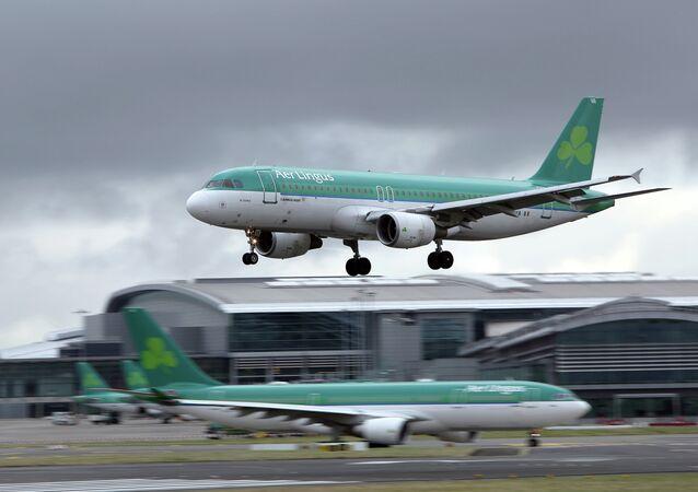 Dublin Airport in Ireland on January 27, 2015