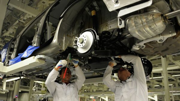 At the Volkswagen Rus Group plant in Kaluga, where full-cycle production of cars was launched in 2009 - Sputnik International