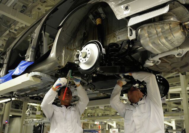 At the Volkswagen Rus Group plant in Kaluga, where full-cycle production of cars was launched in 2009