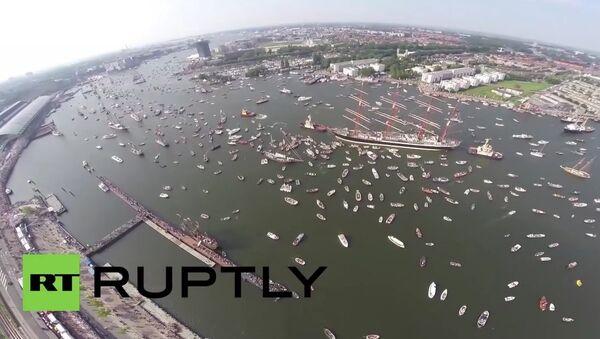 Tall Ships in Amsterdam - Sputnik International