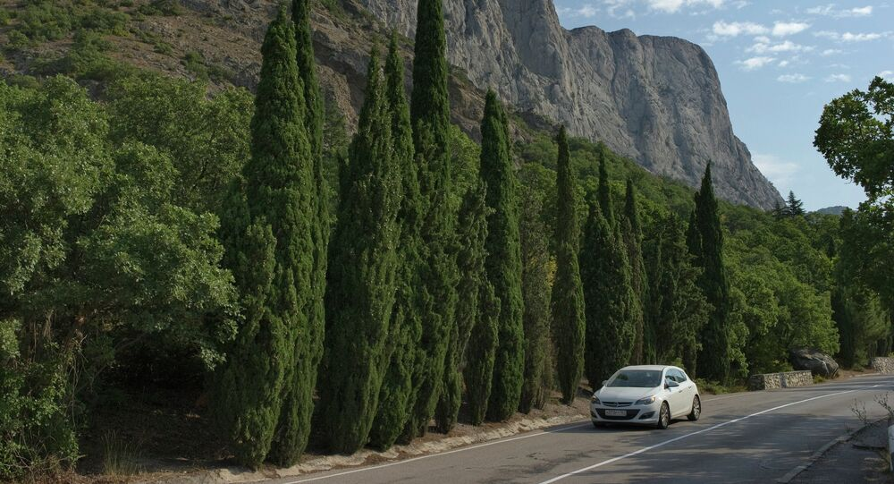 A road leading to Foros resort town in Crimea