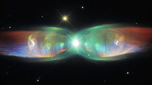 The Hubble Space Telescope's latest image reveals a distant nebula known as Minkowski's Butterfly. - Sputnik International
