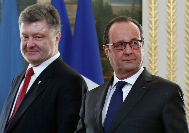French President Francois Hollande has accepted Ukrainian President Petro Poroshenko's invitation to visit Ukraine.