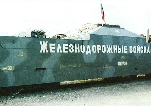 Armored train Terek, until recently one of Russia's four armored trains, along with the Amur, Baikal, and Don. Terek and Don have since been decommissioned.