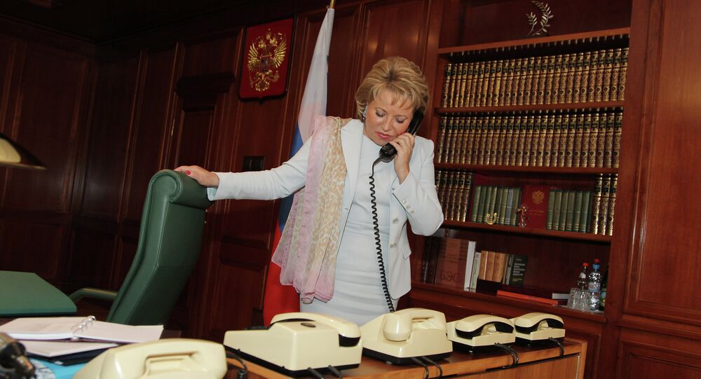 Interview with Federation Council speaker Valentina Matvienko