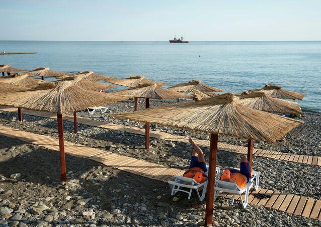 A view of a municipal beach in central Sochi.