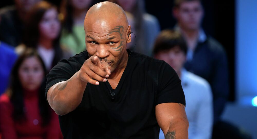 US Former heavyweight boxing champion Mike Tyson.