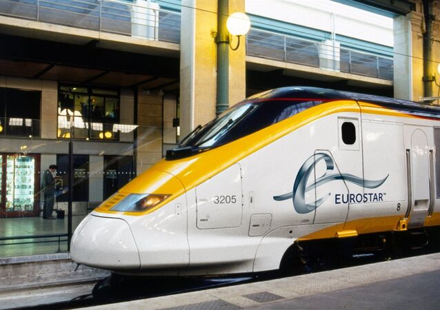 Eurostar Train at Paris Gare Du Nord Station