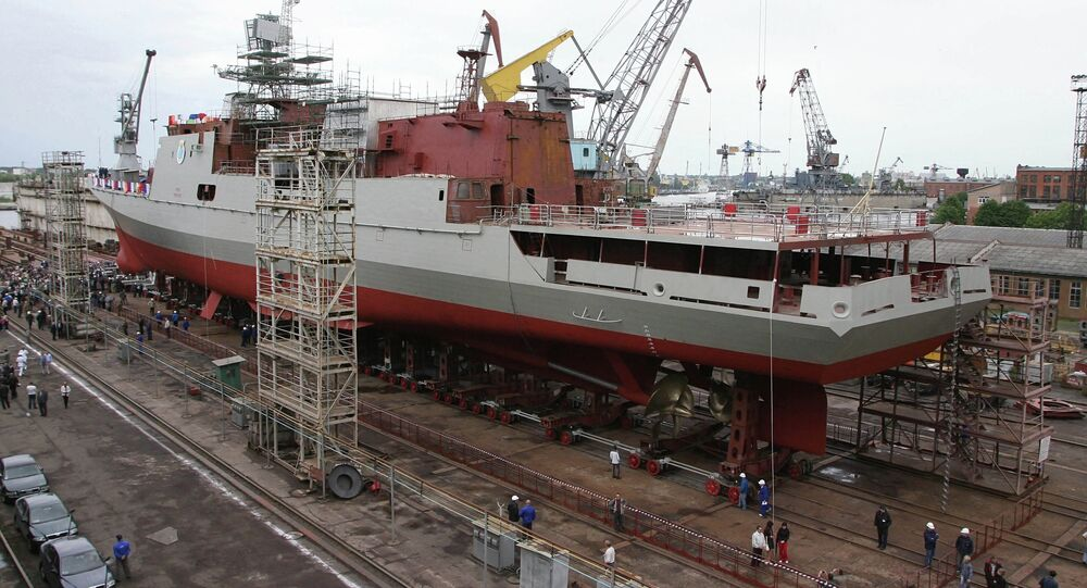 Second Tarkash (Quiver) frigate launching