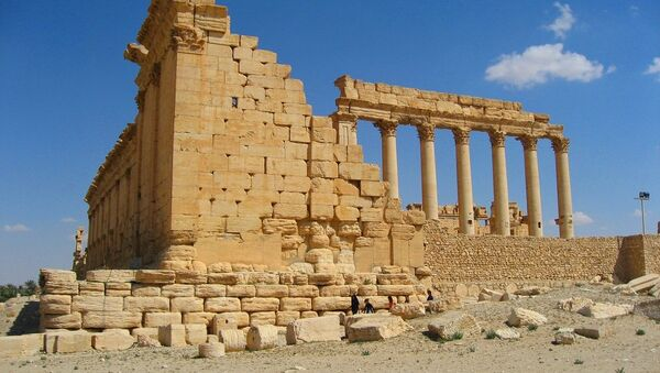 An ancient city of Palmyra in present Homs Governorate, Syria - Sputnik International