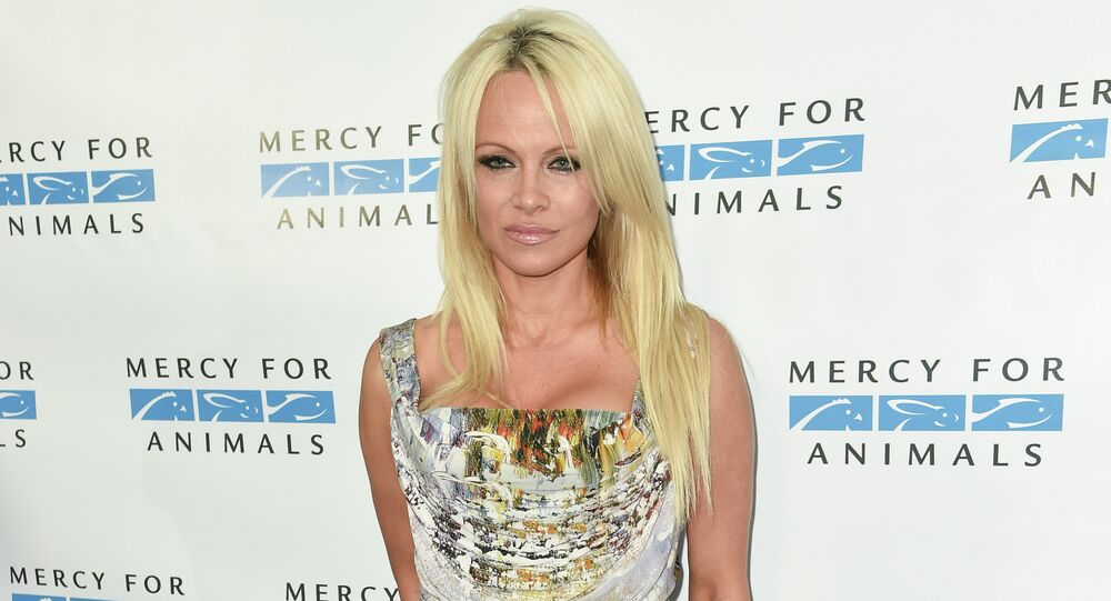 Pamela Anderson at Mercy For Animals' Hidden Heroes Gala.